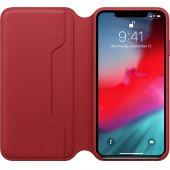 Leren Folio-hoesje voor iPhone XS Max (PRODUCT)RED