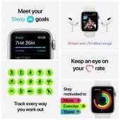 Watch SE Nike 44MM Wit Sportbandje