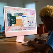 iMac 24-inch Retina 4.5K Retina M1 8-core CPU 8‑core GPU 8GB 256GB Zilver