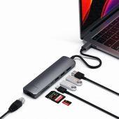 Satechi Type-C Slim Multiport Ethernet Adapter Spacegrijs