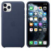 Apple Leren hoesje iPhone 11 Pro Max - Middernachtblauw