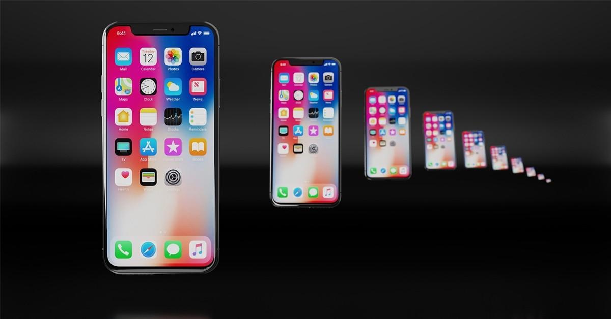 iPhone X row