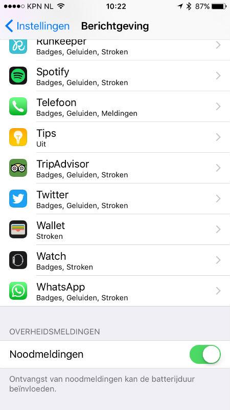 NL Alert iPhone