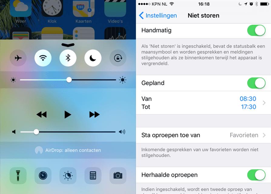 Niet Storen Functie | iPhone
