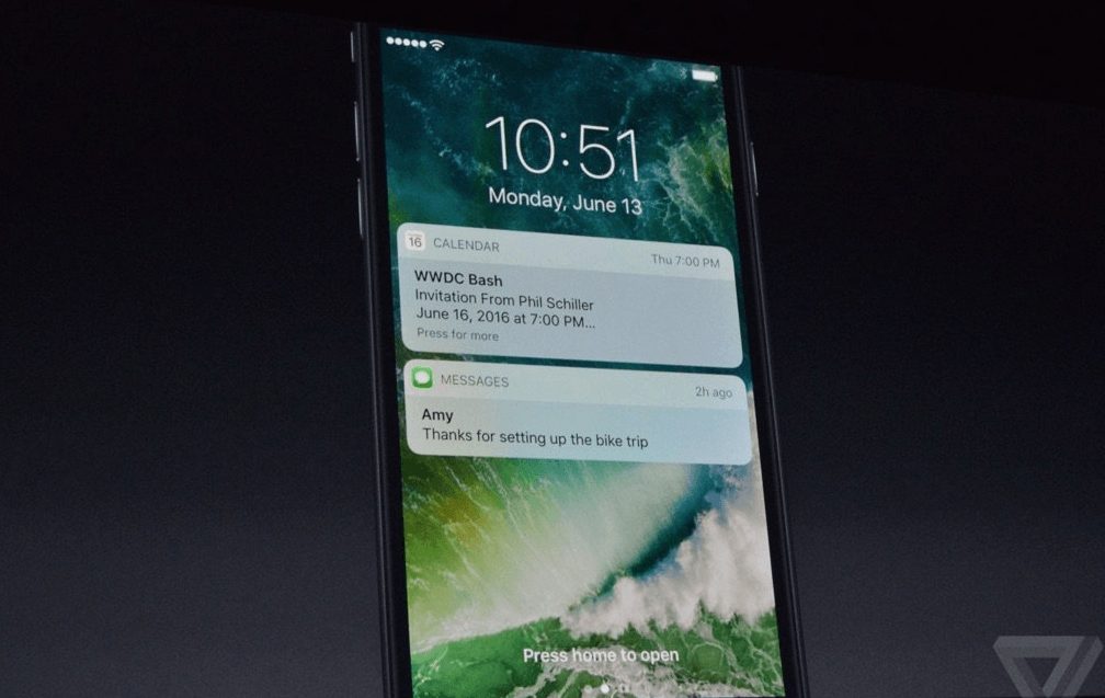 Beginscherm iOS 10