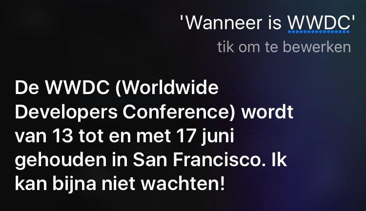 WWDC 2016 - Siri aankondiging