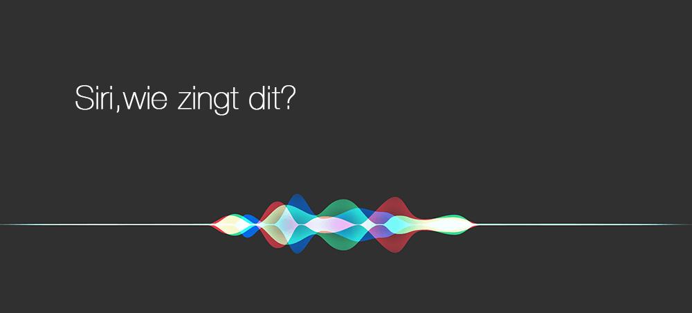 Siri commando wie zingt dit