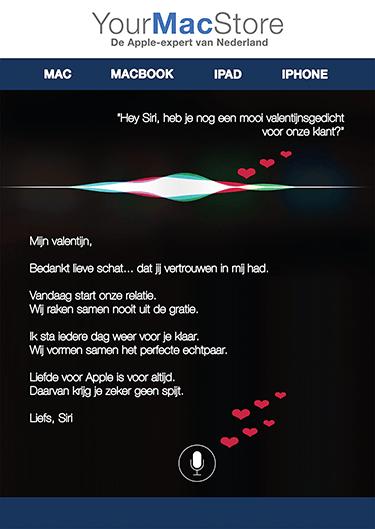 Valentijnskaart Siri Apple