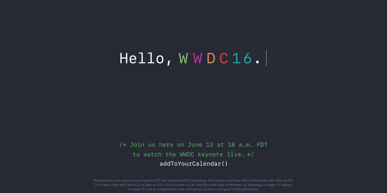 WWDC16 Livestream