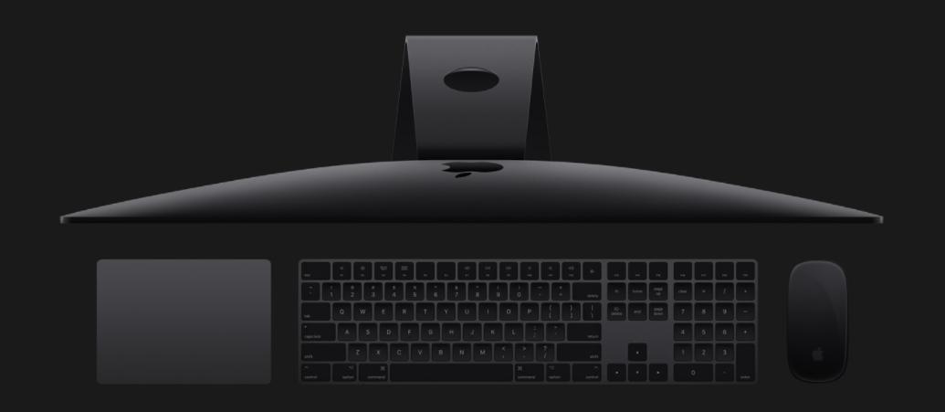 iMac Pro spacegrijs met accessoires