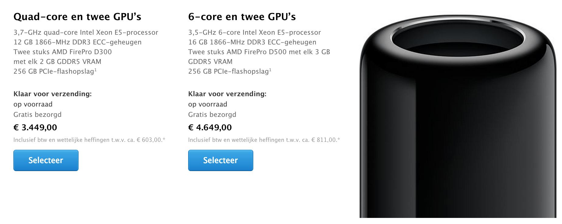 Mac Pro Prijzen