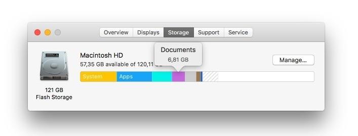 about my mac storage