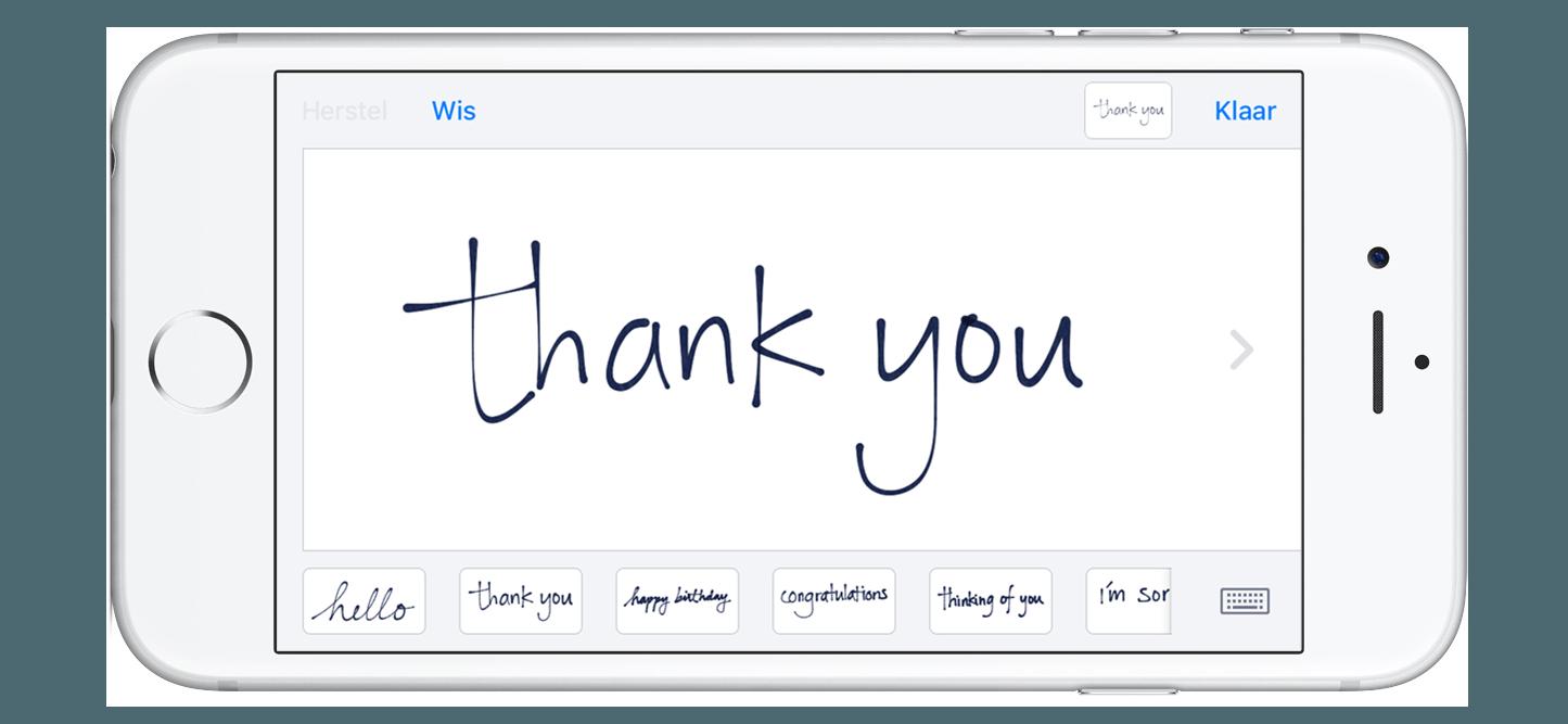 handgeschreven bericht | YourMacStore